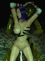 Mad 3D Jade gets naked and stuffed doggystyle