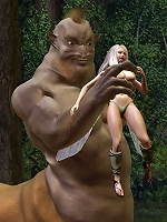 3D Peasant girl gets hard fucked by Cyclop