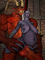 3D Elf Girl is banged and receives a facial