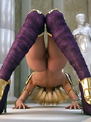 3D Princess gets stripped and gives head