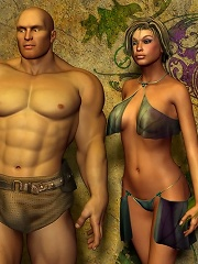 He is embracing that Warcraft porn whore from behind and she is all flickering