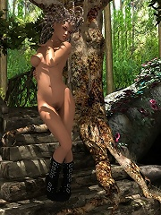 3D Sorceress gets captured and filled by dick