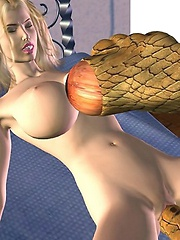 Busty 3D Girls fucked by tentacles