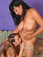 Big juggs Danica and Alexis May dildo pounding their pussies