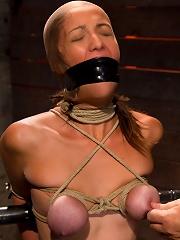 Audrey had her breast bound...