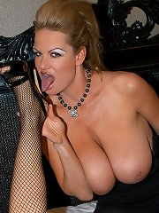 Punk rock Kelly ruffs up a hot blonde and bites her tits.