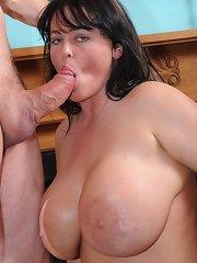 Giant jugged MILF takes on a big dick!