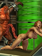 3D miss stroking Devil and getting licked