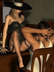 3D Moster poundes balls deep into a mad Secretary