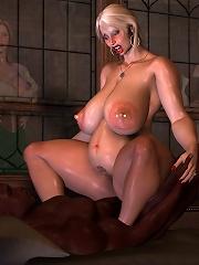 Tiny Anime call girl gets fucked between nipples