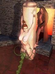 Ravishing 3D Baby gets cumblasted in the bathtub