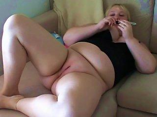 Fatty Slut Enjoys Good Solo