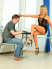 Submissive mans slutty wife