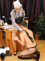 Boss Gets Punished by Femdom Secretary