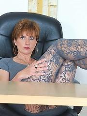 Hot milf in pantyhose