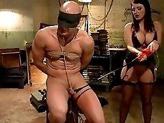 Sophie Dee catches her husband masturbating...