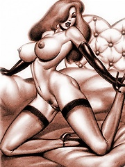 Jessica Rabbit gets punished and rides fat cock