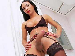 Tsplayground Latina Beauty Teases Big Cock In Lingerie