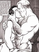 Gay anime boys stroking cocks