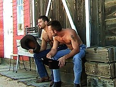 Cowboys suck dick on the ranch