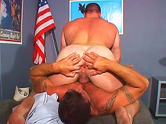 Burly Navy guys fuck each others asses
