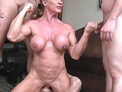 Buff Milf Vs 3 Cocks Handjob Hd Porn Video 71 Xhamster