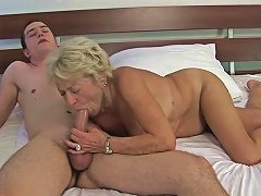 Busty Blonde Granny Is Always Ready To Take On A Young Man's Big Cock Txxx Com