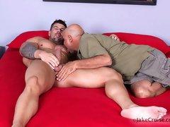 hot muscle man Zeb Atlas having sex and cumming