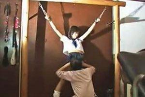 Japanese Bondage Babe Sucks Fucks