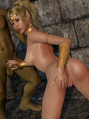 Ardent 3D Lady getting her cunt fucked by Lord