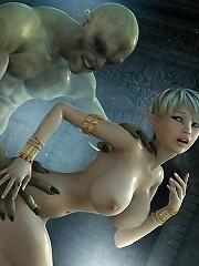 Sexy 3D Priestess