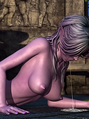 Toon Streetwalker was ripped apart by Friend and squirts cum