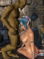 Sexy Anime Fantasy Heroine dominates and fucked