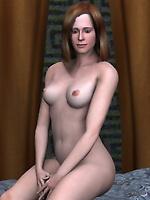 3D model Isabelle waiting you at her bedroom