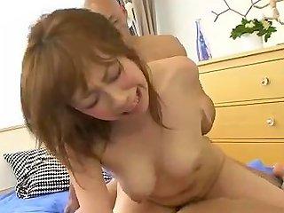 Saki Asaoka Busty Japanese Receives Two Cock