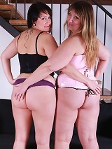 Plump and pretty sluts shove toys deep in each others round asses!