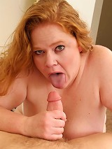 Long haired plumper having her pussy rammed from behind