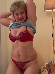 The wrinkled, chubby woman still has what it takes to seduce a man with her body