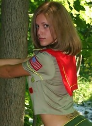 Karen dressed as a girl scout