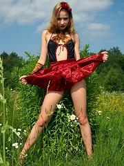 Hot teen undressing