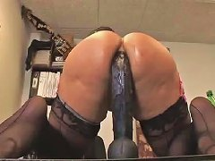 Kelly drills her globes with a huge dildo in sex video Upornia com