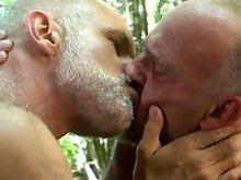 Mature gay daddies outdoor gay sex