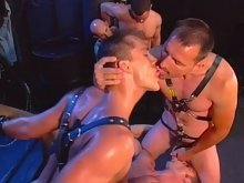 BDSM muscle studs get their dicks serviced