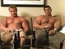 Nude Zeb Atlas masturbates