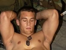 Great bodied muscular guys poses and teases on the camera