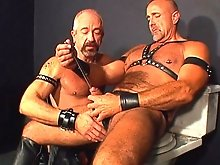 Every loud grunt just makes his leather brother want to fuck his ass even harder