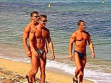 Beach bum gays fuck the night away