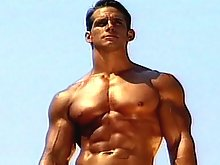 Really fitted & muscled gay man walking naked in the forrest