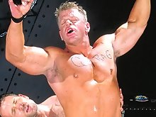 If you didn't know blond muscle hunk Rick Hammersmith was a bottom boy by the way he's lubing up Matt Sizemore's horse-sized cock with