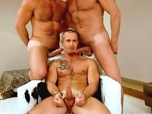 Getting his ass rimmed by beefy Trojan and his has Carlo dick rammed down his throat, he's being well and truly used in the horniest sense of the